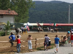 Camping with Horses near Cuneo, Italy