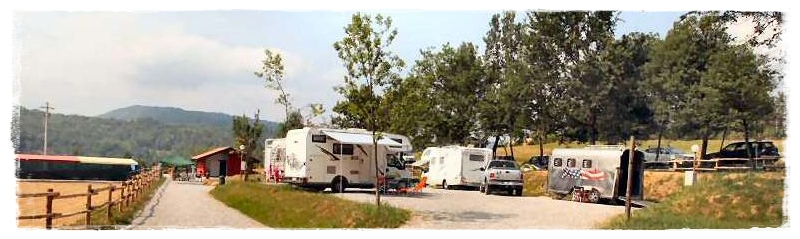 camping with horses in Piedmont, near Cuneo