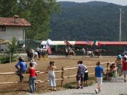 Camping avec des chevaux dans la province de Cuneo